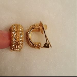 RARE! Dior clip on Earrings sparkly